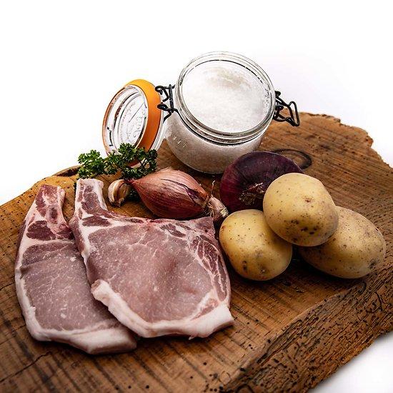 Côtes de porc par 2 (environ 320g)