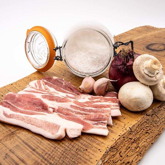 Ventrêche fraiche de porc par 6 tranches (environ 250g)