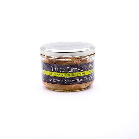 Truite fumée marinée à l'huile d'olive 180g