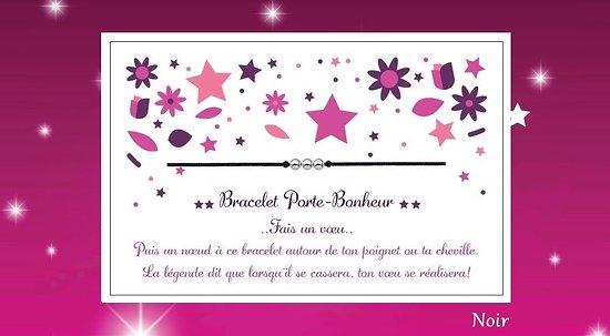 Bracelet voeux accompagn e de sa carte - Coquillage grain de cafe porte bonheur ...