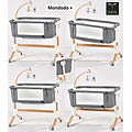 MONDODO+ Berceau Lit Cododo 0/9kg col GRIS FONCE Chiné/DARK GREY