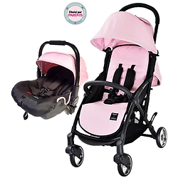 """Pack Duo COSY Trinity 2 """"ROUES GOMME"""" Poussette roues gomme + Cosy auto"""