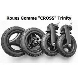 """TRINITY : Lot de 4 ROUES """"CROSS"""" roues gomme TOUT TERRAIN"""
