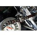 Bracelet manchette en cuir pour biker Harley Dav.