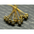 8 fibules en métal doré vieilli 55mm