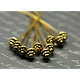 10 fibules en métal doré vieilli 55mm