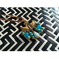 Collier Ode maya - or et turquoise