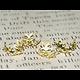 10 coupelles feuillage fin en métal doré 15mm