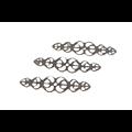 5 estampes fines et longues en métal couleur bronze 54x14mm