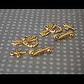 2 fermoirs libellule en métal doré en 3 parties 20x14mm