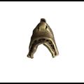 Grande breloque mobile bouche de requin en métal couleur bronze 28x30mm
