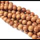 4 perles en bois de Narra 10mm