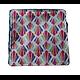 """Carré lingette """"Eventails multicolores"""" en coton et éponge de bambou bio bleu marine"""