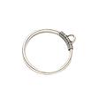 Grande breloque anneau simple en métal argenté 45x39mm