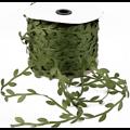 Cordelette feuillage en soie verte