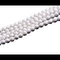 Perle sculptée fleur de lotus en coquillage véritable 10mm