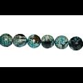 3 perles d'agate vert/bleu/brun à facettes 8mm