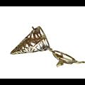 Cage à bola pointe et pentagramme en métal couleur bronze doré 53x26mm
