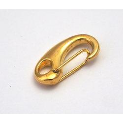 Mousqueton en métal doré 21x11mm