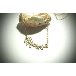 "Collier fin ""Vegetalis"" en or 14k et vermeil"