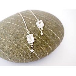 """Boucles d'oreille """"Pure cascade"""" en argent et cristaux précieux"""