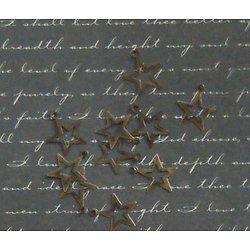 10 breloques étoile évidée en métal couleur bronze 13x15mm