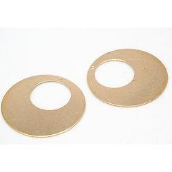 2 breloques cercle en laiton doré 32mm