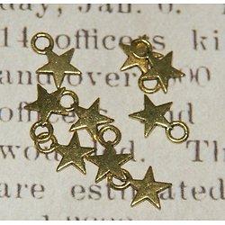 5 breloques étoile en métal doré vieilli 11x8mm