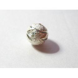 Perle en argent 925/1000 façonnée 12mm