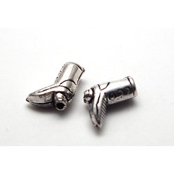 2 perles botte de cow-boy en argent 925/1000 11x9x4mm