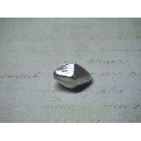 Grosse perle toupie allongée en argent 925/1000 brossé 10x17mm