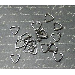 10 bélières triangle en acier inoxydable 9x9mm