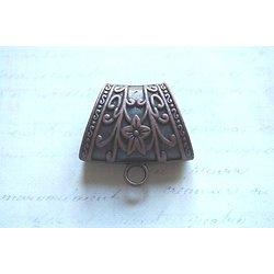Grande bélière décorée en métal couleur cuivre 4x3.8cm