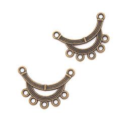 2 connecteurs chandelier arc de cercle en métal couleur bronze 30x22mm