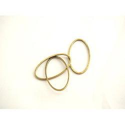 4 connecteurs anneaux ovales en métal couleur bronze 24x14mm