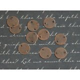 10 pastilles connecteurs en métal couleur cuivre 10mm