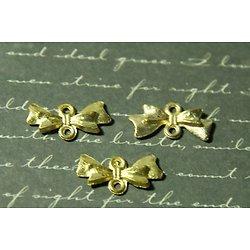 2 connecteurs noeud papillon en métal doré 10x20mm