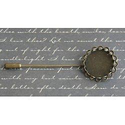Fibule ou épingle à personnaliser en métal couleur bronze
