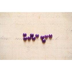 20 demi strass nacrés violets en acrylique 4mm