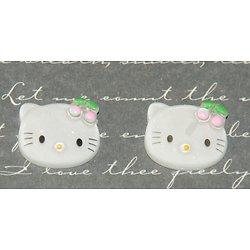 2 cabochons en forme de tête de chat asiatiques coller
