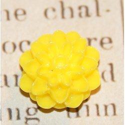 2 fleurs de dhalia en résine 16x9mm