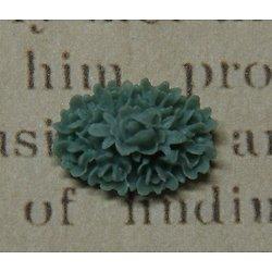 Applique fleurs bleu ancien en résine 17x12x7mm