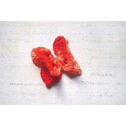 Papillon doubles ailes au crochet - applique à coudre 3,5x3,5cm