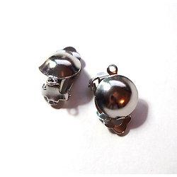 Clips avec connecteur en métal argenté 20x12mm