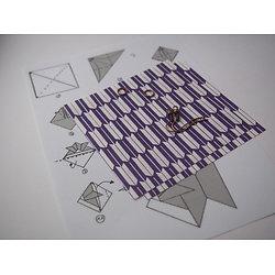 Kit pour boucles d'oreille origami poisson sur dormeuses couleur cuivre