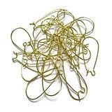 4 paires de crochets d'oreille en métal doré 24x11mm