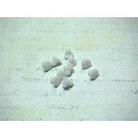 20 tampons de protection en caoutchouc blanc pour boucles d'oreille clips 6x5mm