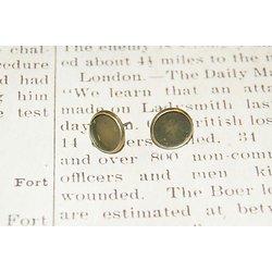 2 supports de boucles d'oreille à clou en métal couleur bronze 12mm