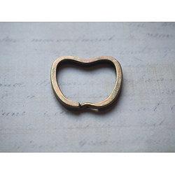 Grand anneau brisé pomme pour porte-clefs en métal couleur bronze 32x30mm