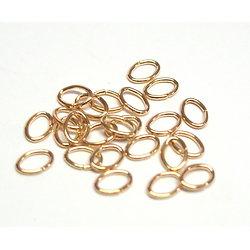 20 anneaux ovales en métal doré 8x5mm